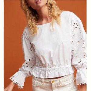 ANTHROPOLOGIE x MAEVE | Marigot poplin blouse L